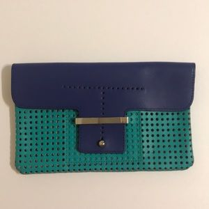 Just in! Teal & Navy Blue Clutch